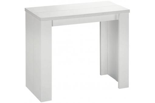 Table console extensible blanche 3 rallonges Broadway