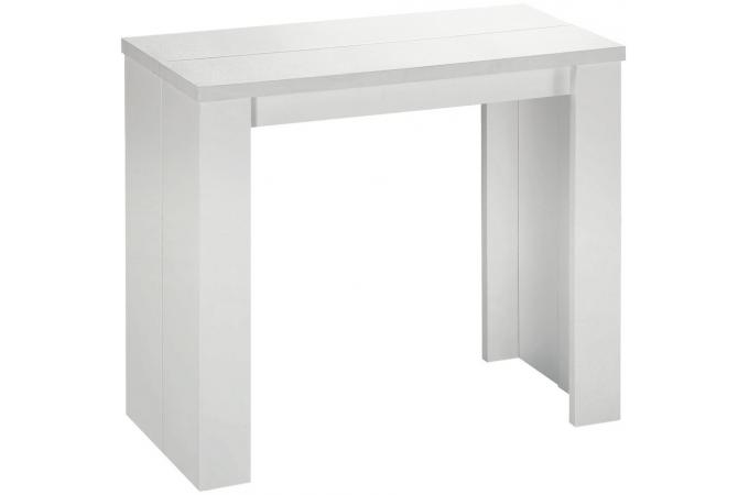 Table Console Extensible Blanche Pas Ch Re