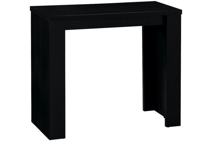 Table console extensible noir broadway tables consoles pas cher - Table console extensible pas cher ...