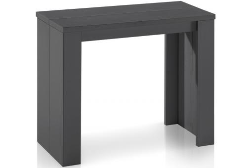 Table console extensible gris vintage broadway tables consoles pas cher - Console extensible grise ...