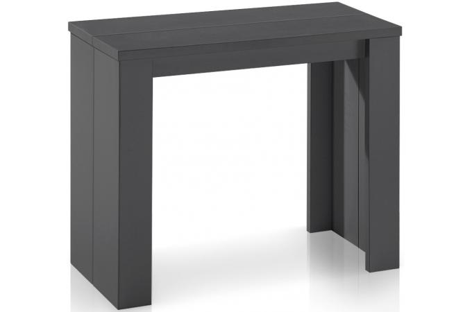 table console extensible gris vintage broadway tables. Black Bedroom Furniture Sets. Home Design Ideas