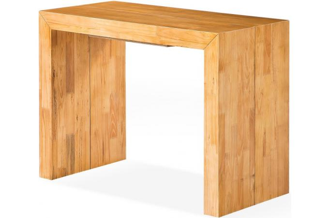table console extensible en bois massif wengue. Black Bedroom Furniture Sets. Home Design Ideas