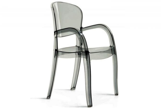 chaise transparente fum e victor chaises design pas cher. Black Bedroom Furniture Sets. Home Design Ideas