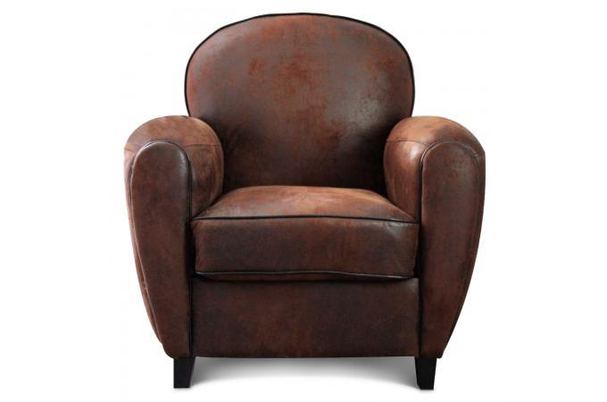 fauteuil club choco vintage pas cher achat canap ou. Black Bedroom Furniture Sets. Home Design Ideas