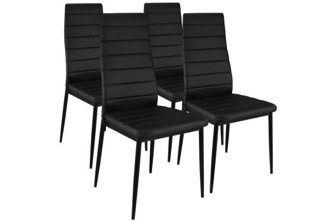 Lot de 4 Chaises Design Noir Houston