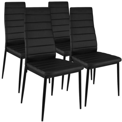 Lot de 4 Chaises Design  Noir Houston - Lot 4 chaises design