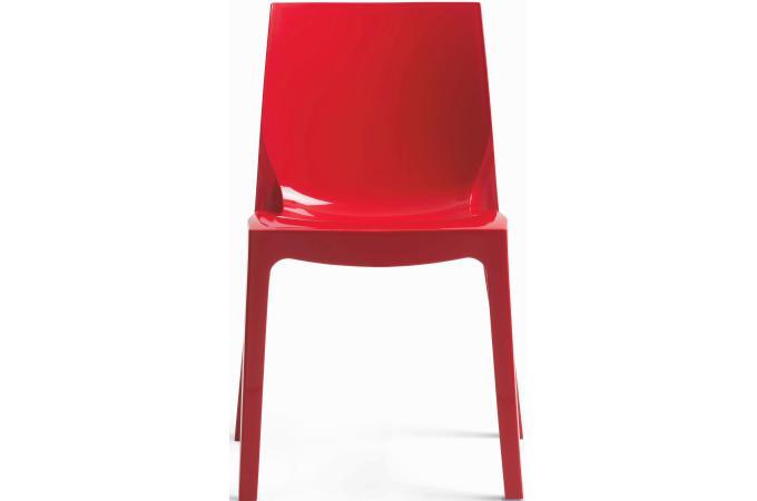 Chaise design rouge laqu victory chaises pas cher declik deco - Chaise rouge design ...