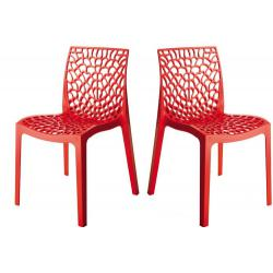 Lot de 2 Chaises Design Rouges GRUYER