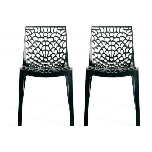 Lot de 2 Chaises Design Anthracite GRUYER
