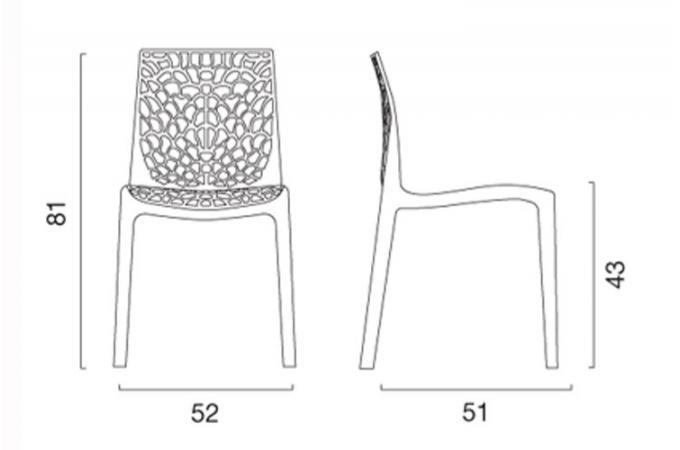 Lot de 2 chaises design blanche gruyer chaises design - Lot de chaises design pas cher ...