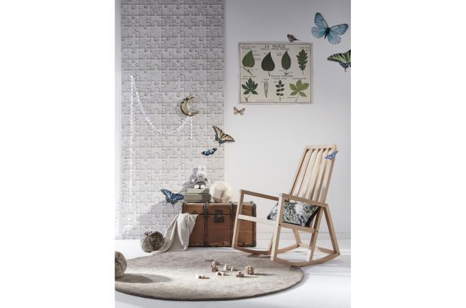 papier peint puzzle toile de jute papiers peints textures pas cher. Black Bedroom Furniture Sets. Home Design Ideas
