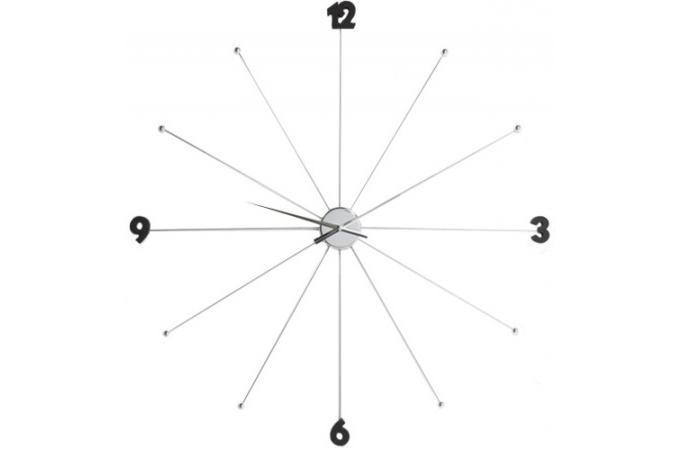 grande horloge design umbrella chrom e horloges design pas cher. Black Bedroom Furniture Sets. Home Design Ideas