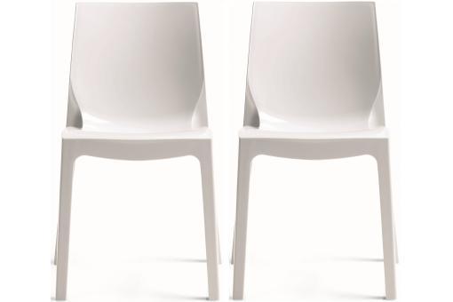Lot de 2 chaises blanches laqu victory chaises design pas cher - Chaises laquees blanches ...