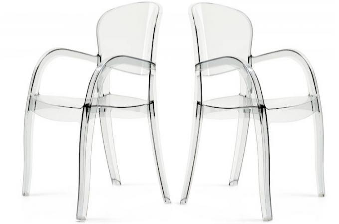 lot de 2 chaises transparentes victor chaises design pas cher. Black Bedroom Furniture Sets. Home Design Ideas