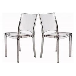 Lot de 2 Chaises Transparentes NILO