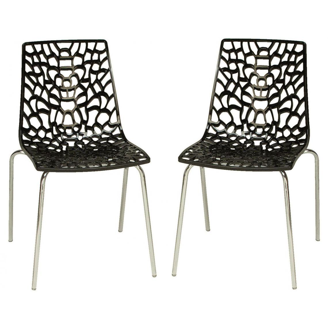 Lot de 2 Chaises Anthracites TRAVIATA
