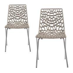 Lot de 2 Chaises Taupe TRAVIATA