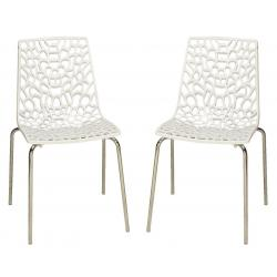 Lot de 2 Chaises Blanches TRAVIATA