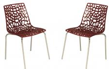 Lot de 2 Chaises Rouges TRAVIATA