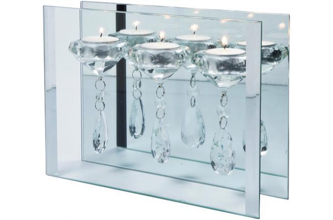 bougeoir 3 bougies en cristal duba bougies photophores pas cher. Black Bedroom Furniture Sets. Home Design Ideas