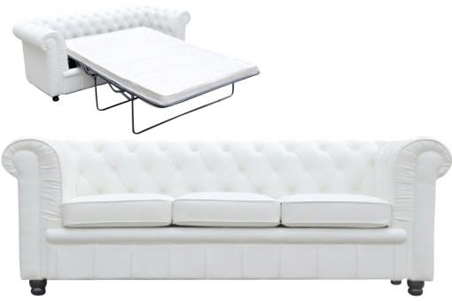 Canap chesterfield blanc convertible avec matelas - Canape convertible avec matelas ...
