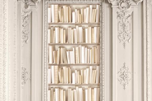 papier peint biblioth que ivoire papiers peints trompe l 39 oeil pas cher. Black Bedroom Furniture Sets. Home Design Ideas