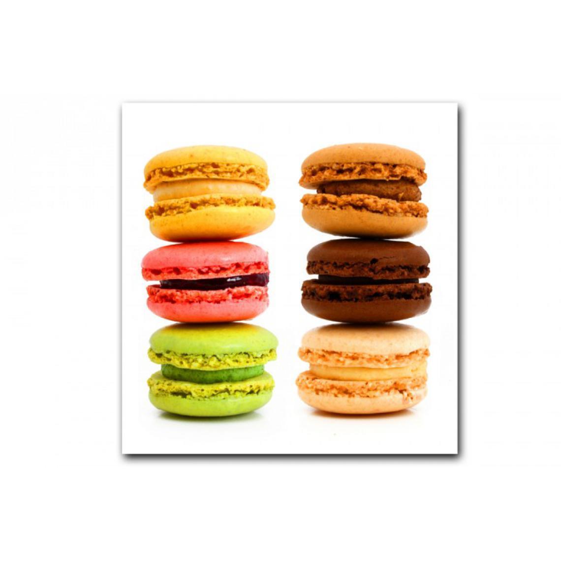 Tableau Gourmand Multicolore Macaron 50X50 cm