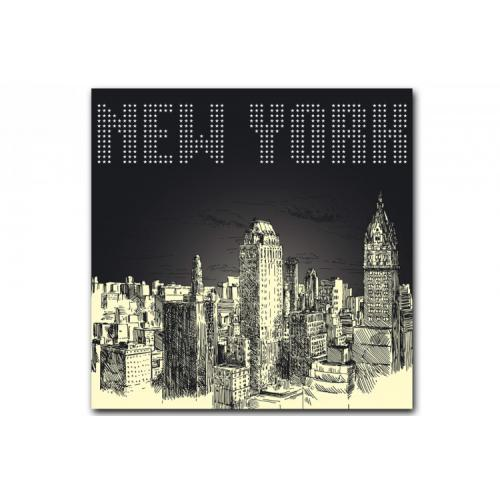 Tableau New York By Night 80X80 cm
