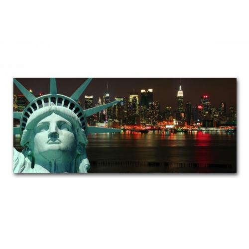 Tableau Panoramique New York Liberty 90 x 30 cm