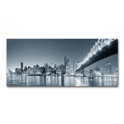 Tableau Panoramique New York By Night 90 x 30 cm - Tableau ville