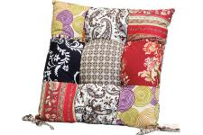 Coussin de Chaise Patchwork Fleuri 40X40 cm - Decoration interieur design
