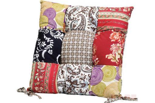 coussin de chaise patchwork fleuri 40x40 cm coussins pas cher. Black Bedroom Furniture Sets. Home Design Ideas
