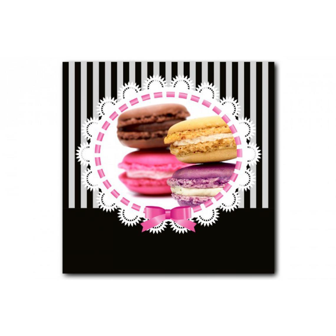 Tableau Gourmand Macaron Baroque 50X50 cm