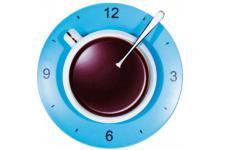Horloge Design Horloge Kare Design tasse à café bleue, deco design