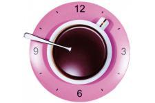 Horloge Kare Design tasse à café rose, deco design