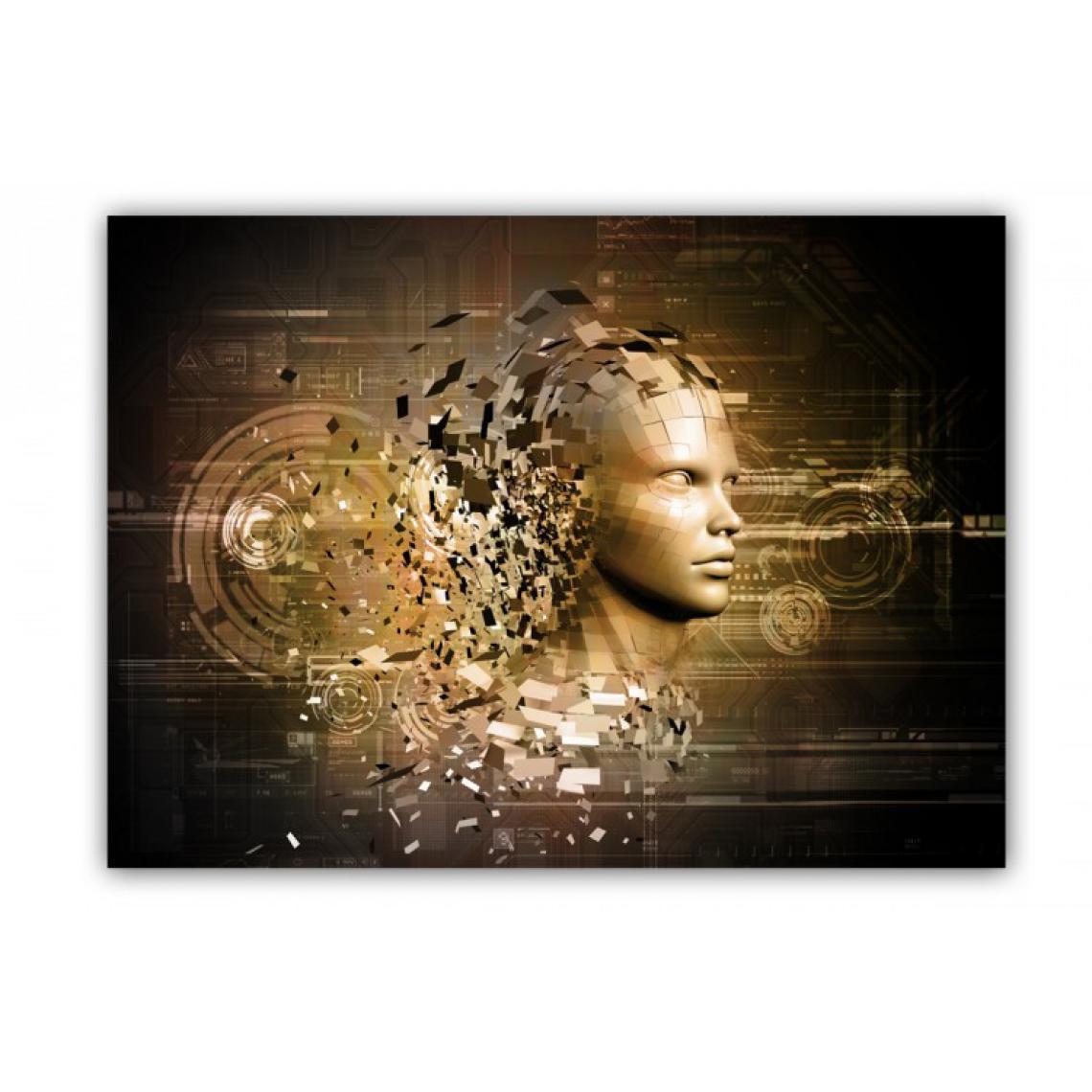 Tableau Abstrait Femme Dorée en Morceau x  L.80 x H.55 cm