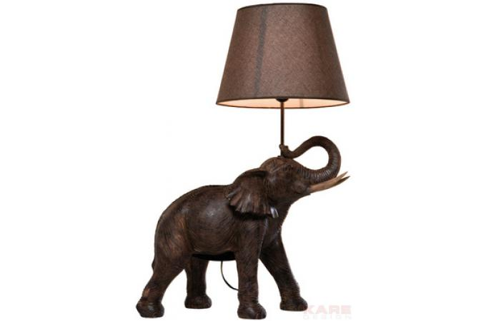 lampe poser l phant africains lampe poser pas cher. Black Bedroom Furniture Sets. Home Design Ideas