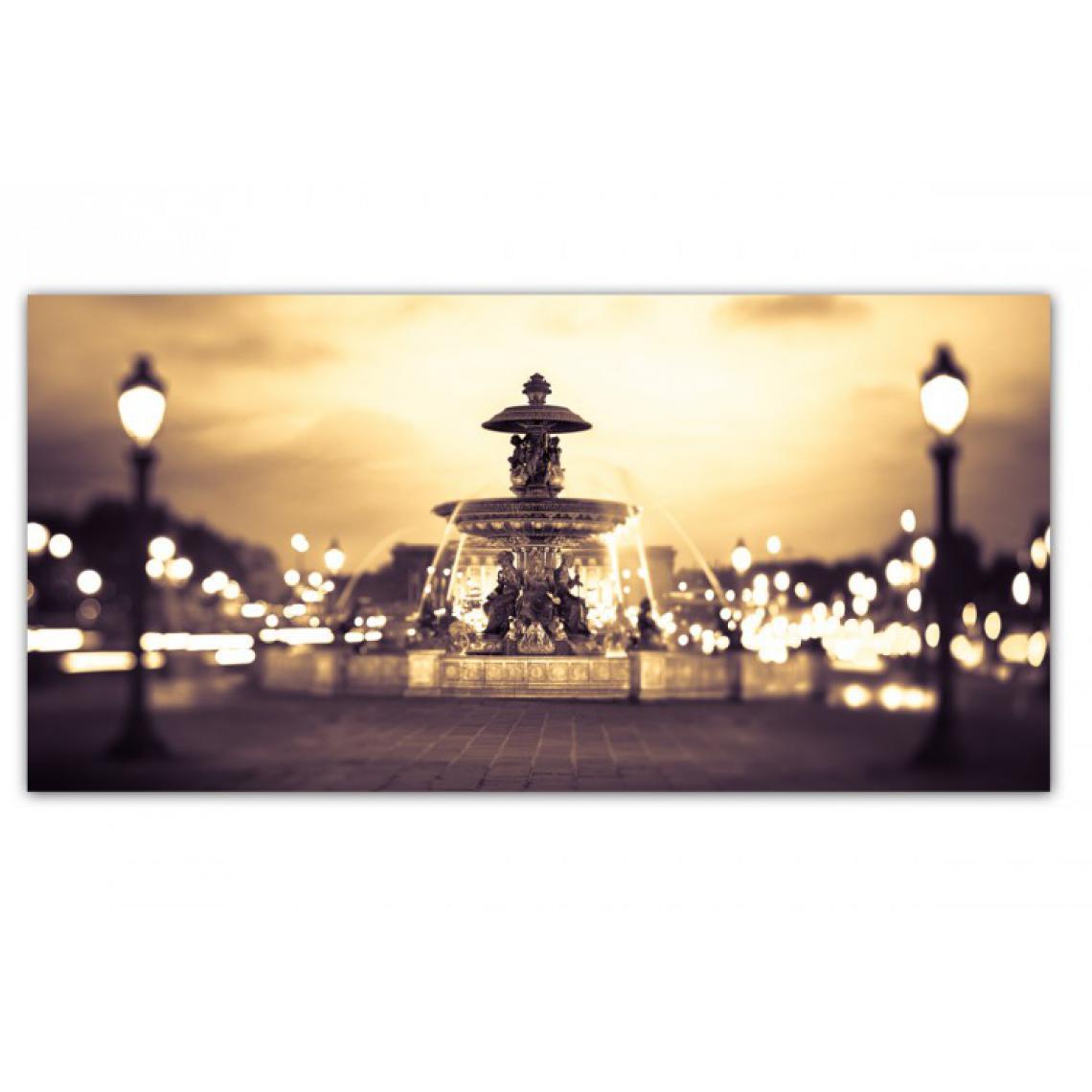 Tableau Villes Panoramique Fontaine Parisienne 90 x 30 cm