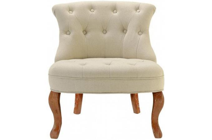fauteuil crapaud lin beige antoinette fauteuils classiques pas cher. Black Bedroom Furniture Sets. Home Design Ideas