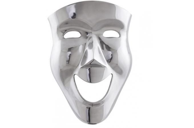 Masque Mural et Décoratif en Alu Venise - Statues Déco Pas Cher