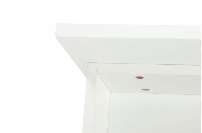 meuble laqu blanc 3 tiroirs paulo meubles de rangement pas cher. Black Bedroom Furniture Sets. Home Design Ideas
