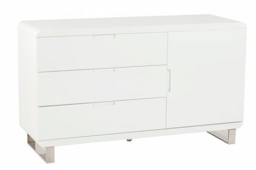 Meuble laqu blanc 3 tiroirs paulo meubles de rangement pas cher - Produit meuble laque ...
