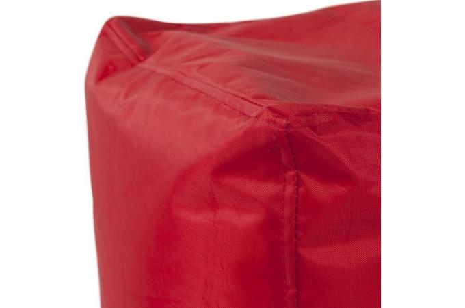 Pouf carr rouge polyester picolo poufs petits for Pouf carre rouge