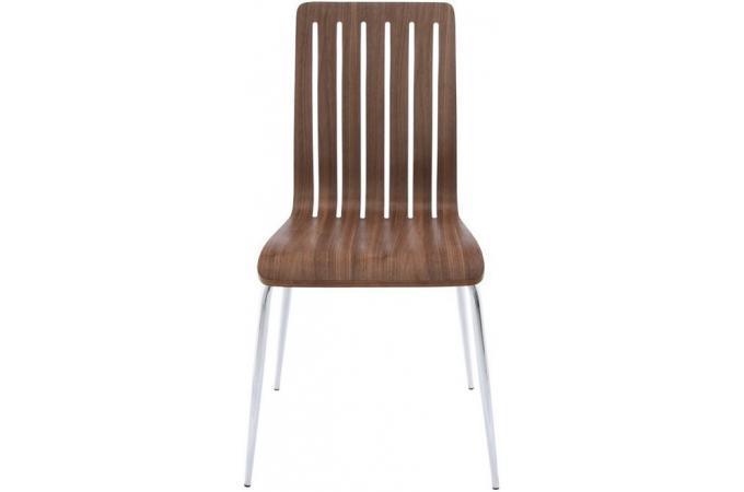 chaise design en bois marron dicky chaises design pas cher. Black Bedroom Furniture Sets. Home Design Ideas