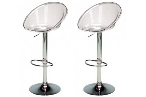 Set de 2 tabourets de bar transparents ROXY