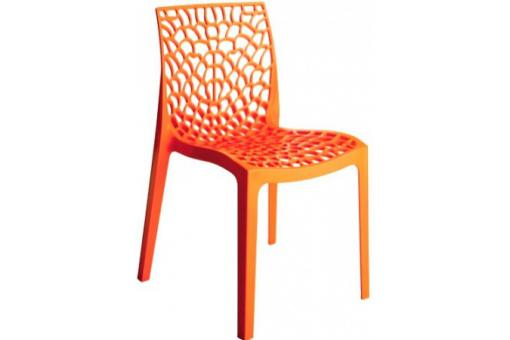 Chaise Design Orange GRUYER - Salle a manger moderne