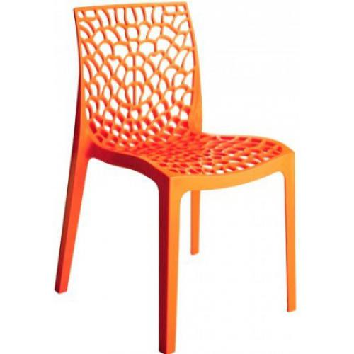 Chaise Design Orange GRUYER - Promos salle a manger