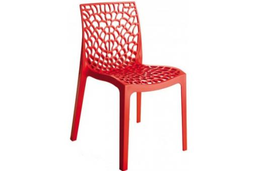 Chaises design rouge GRUYER OPAQUE
