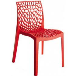 Chaise Design Rouge GRUYER