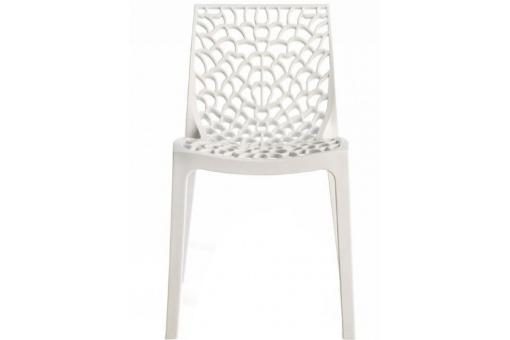 Chaise Design Blanche GRUYER - Chaise design